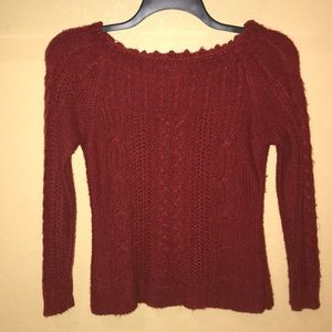 Beautifully detailed red sweater